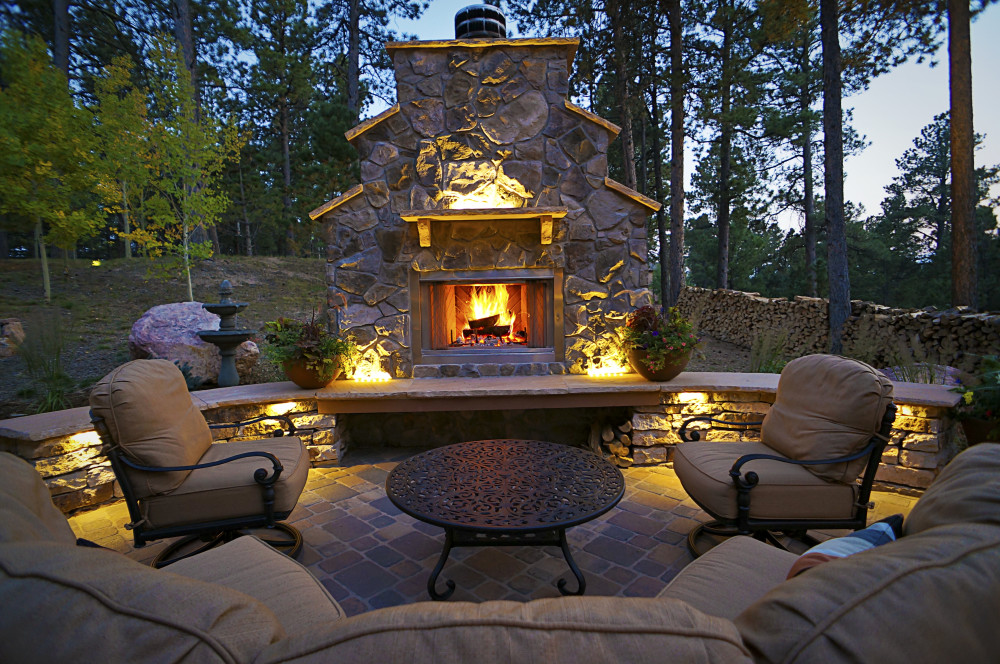 Lighted Outdoor Living Area Fredell Enterprises Inc