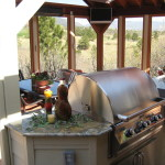 Outdoor Kitchen with Granite Counters