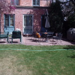 patio renovation - before landscaping