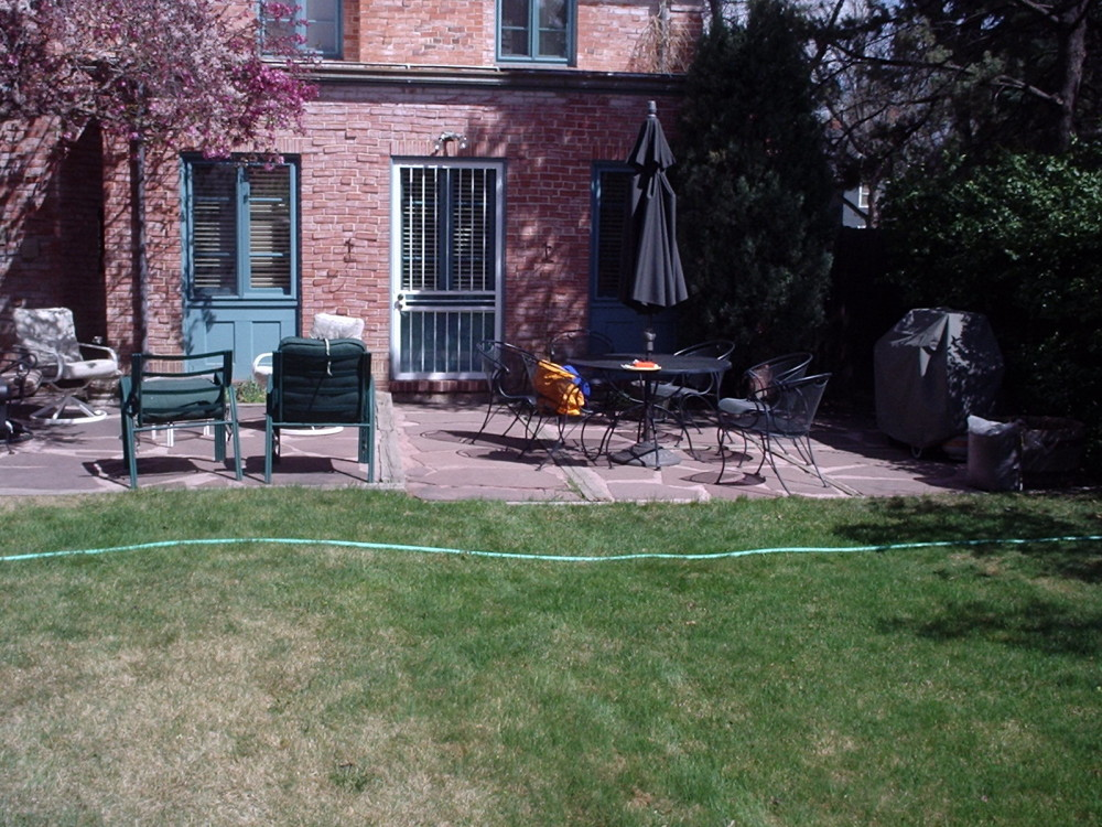 patio renovation before landscaping