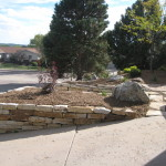 Retaining Wall along Drive