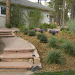 side of house stone landscaping