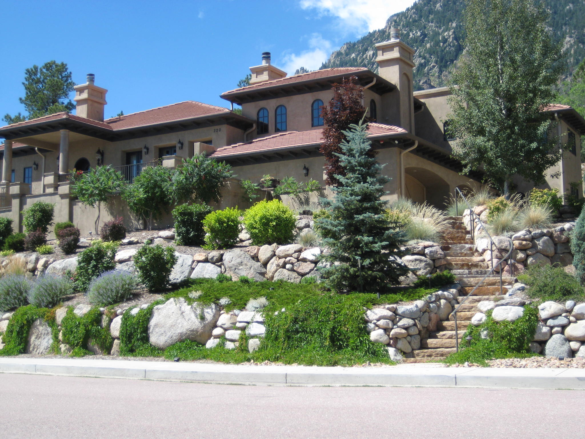 landscape design colorado springs fredell enterprises inc home landscaping design - Residential Landscape Design Ideas