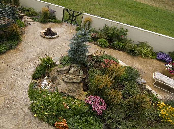 Courtyard plantings gardens design landscape