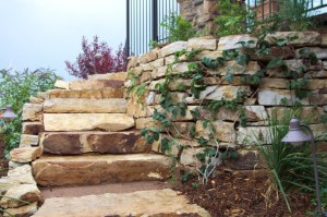 Siloam stone steps are a beautiful and exceptionally durable way to traverse steep slopes