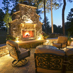 outdoor seating landscape projects