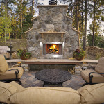 Fireplace landscape projects