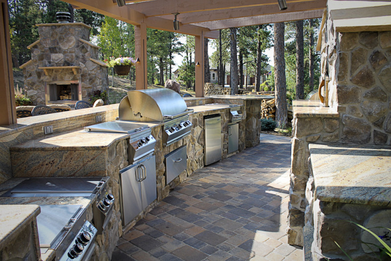Outdoor Kitchen Design Ideas: Pictures, Tips & Expert ... |Landscape Outdoor Kitchens