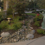 outdoor lighting dry river bed landscaping colorado springs