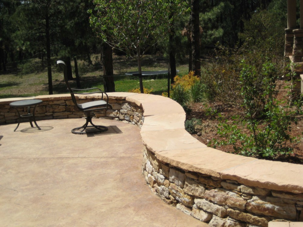 Patio Seating Wall Surround & Patio Stone Seating Wall Colorado Springs - Outdoor Fire Pit Seating