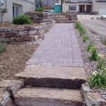 landscaping paver pathway