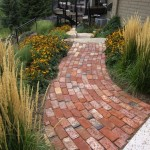 Recycled brick pathway landscaping