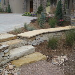 retaining patio seating wall