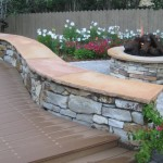 Serpentine Patio Seating Wall