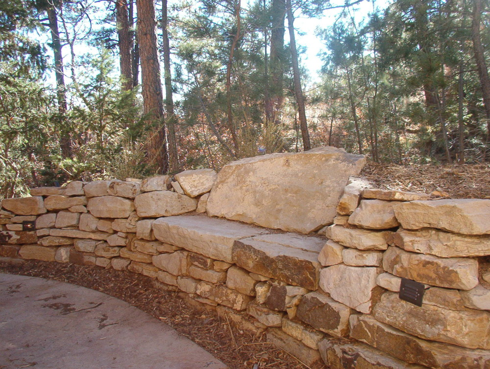 Patio Seating Wall | Stone Seating Wall | Outdoor Fire Pit Seating