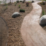 pathway landscaping soil cement