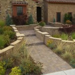 Stucco Entry Patio Seating Wall