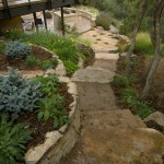 Meandering steps and path