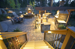 Outdoor lighting can be a great way to accent your landscape in the evening hours