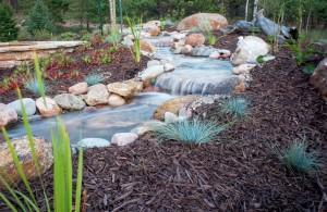 Mountain Landscape Design Water Feature
