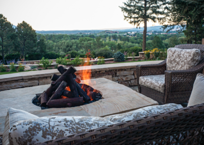 Fire Pit | Metal Logs
