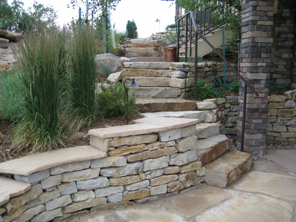 Siloam Stone | Stepped Seating Wall