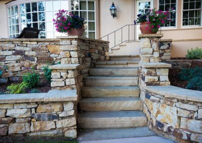 Sandstone Stairs | Mortared Wall